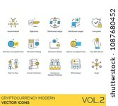 bitcoin  cryptocurrency ... | Shutterstock .eps vector #1087680452