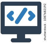 html codetwo colors glyph... | Shutterstock .eps vector #1087682192