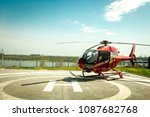 Small Helicopter Parked At The...