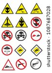 a set of ufo road signs. modern ... | Shutterstock . vector #1087687028