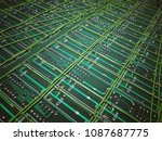 circuit pcb board for background | Shutterstock . vector #1087687775