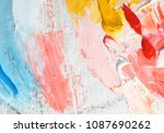 oil paint in canvas | Shutterstock . vector #1087690262