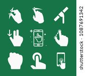 filled set of 9 hand icons such ...   Shutterstock .eps vector #1087691342