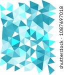 light blue vertical abstract... | Shutterstock . vector #1087697018
