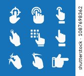 filled set of 9 gestures icons... | Shutterstock .eps vector #1087698362