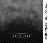 fog or smoke isolated... | Shutterstock .eps vector #1087702562