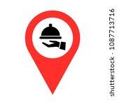 restaurant sign pointer vector | Shutterstock .eps vector #1087713716