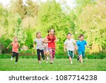 many different kids  boys and... | Shutterstock . vector #1087714238