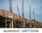 building under construction. | Shutterstock . vector #1087721036