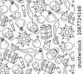 set of pirates illustration....   Shutterstock . vector #1087724168
