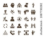 people related set of 25 icons...   Shutterstock .eps vector #1087730282