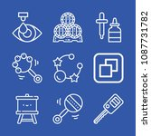 tool related set of 9 icons... | Shutterstock .eps vector #1087731782