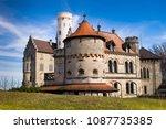 castle  lichtenstein  germany... | Shutterstock . vector #1087735385
