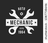 auto mechanic service. mechanic ... | Shutterstock .eps vector #1087738646