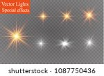 glow isolated white transparent ... | Shutterstock .eps vector #1087750436