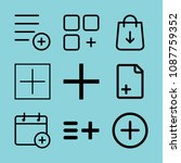 outline add icon set such as... | Shutterstock .eps vector #1087759352