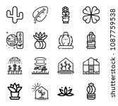 outline plant icon set such as... | Shutterstock .eps vector #1087759538