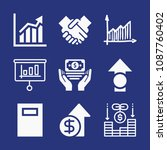 filled business icon set such...   Shutterstock .eps vector #1087760402