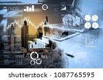 financial report data of... | Shutterstock . vector #1087765595