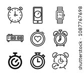 outline timer icon set such as... | Shutterstock .eps vector #1087767698