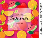 summer sale background vector | Shutterstock .eps vector #1087770362