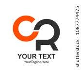 initial letter cr logo design... | Shutterstock .eps vector #1087774475