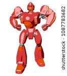 anime style giant robot. 3d...   Shutterstock . vector #1087783682