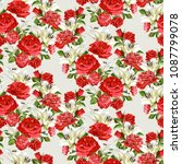 seamless floral pattern with... | Shutterstock .eps vector #1087799078
