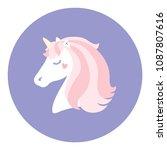 cute unicorn. vector...   Shutterstock .eps vector #1087807616