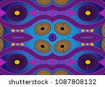 african print fabric  ethnic... | Shutterstock .eps vector #1087808132
