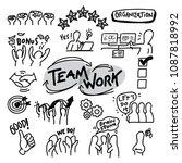 team work organization vector... | Shutterstock .eps vector #1087818992