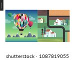 simple things   color   flat...   Shutterstock .eps vector #1087819055