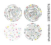 set of circular lines and color ... | Shutterstock .eps vector #1087834076
