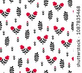 seamless nature pattern. vector ... | Shutterstock .eps vector #1087835468