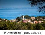 the church of veli losinj with...   Shutterstock . vector #1087835786