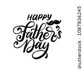 happy father's day  vector hand ... | Shutterstock .eps vector #1087836245