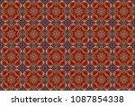 luxury seamless pattern...   Shutterstock . vector #1087854338