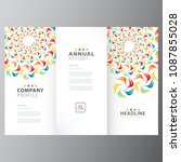 annual colorful business report ... | Shutterstock .eps vector #1087855028