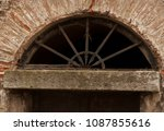 it's an old door. stone and... | Shutterstock . vector #1087855616