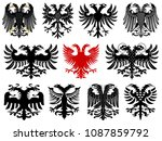 set of heraldic german double... | Shutterstock .eps vector #1087859792
