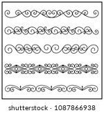 this is set of a metal forged... | Shutterstock .eps vector #1087866938