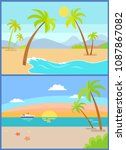 coastline seaview poster with... | Shutterstock .eps vector #1087867082