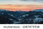 french alps at meribel ski... | Shutterstock . vector #1087875938