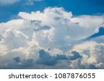 white cloud and blue sky | Shutterstock . vector #1087876055