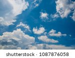 white cloud and blue sky | Shutterstock . vector #1087876058