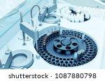 modern robotical machine for... | Shutterstock . vector #1087880798