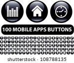 100 mobile apps black glossy... | Shutterstock .eps vector #108788135