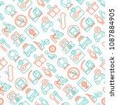 train station seamless pattern... | Shutterstock .eps vector #1087884905