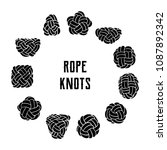 collection of rope knots.... | Shutterstock .eps vector #1087892342