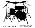 Drum Kit For Rock Band On A...